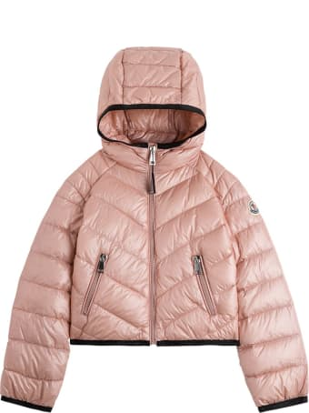 Moncler Cexing Down Jacket In Pink Nylon
