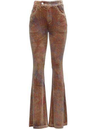 Andersson Bell Luz Printed Velvet Flared Pants