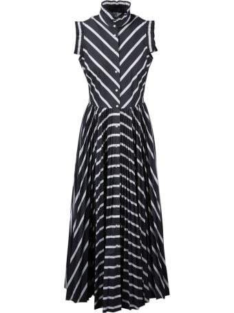 Sara Roka Striped Chemisier Dress