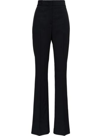 MSGM Black Flared Pants In Viscose Blend