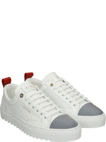 Mason Garments Astro Sneakers In White Leather