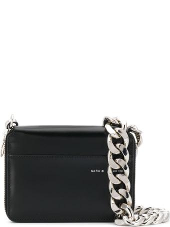 Kara Bike Large Wallet In Black Leather
