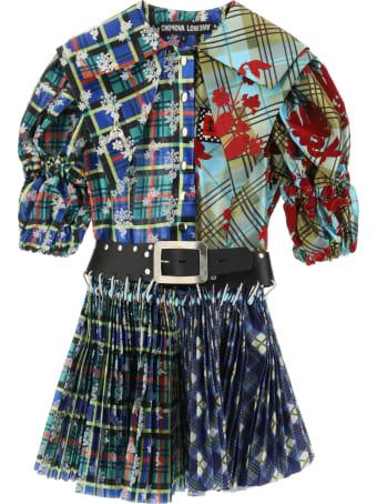Chopova Lowena Belted Mini Dress