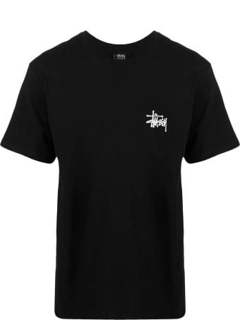 Stussy Black Cotton T-shirt
