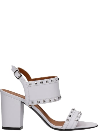 Via Roma 15 Sandals In White Leather