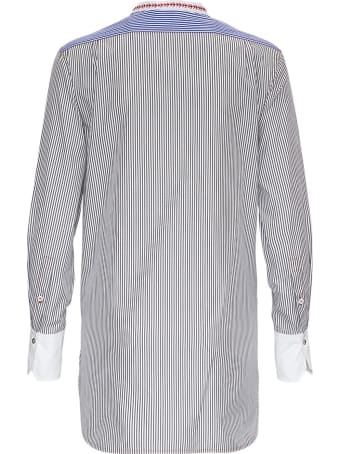 Chloé Striped Cotton Shirt With Contrasting Bib