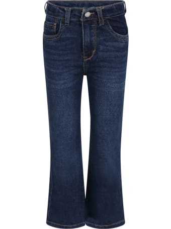 Levi's Blue ''high Rise'' Jeans For Girl