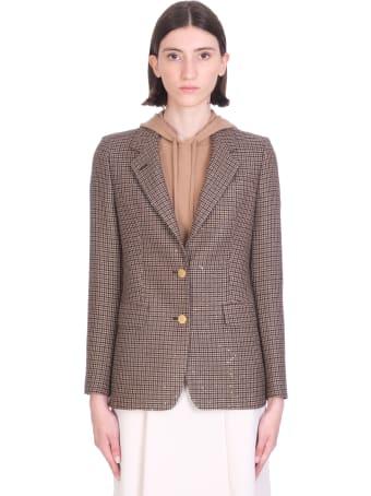Tagliatore 0205 J-parigi Blazer In Brown Wool