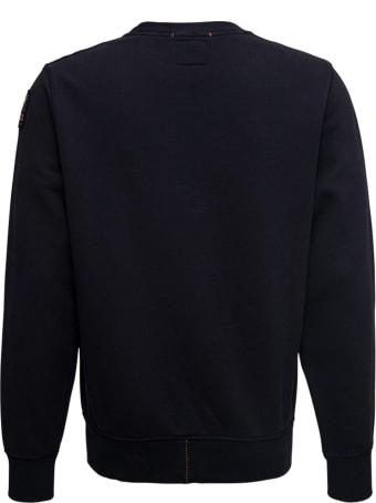 Parajumpers Black Cotton Sweatshirt With Logo Print