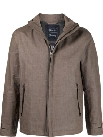 Herno Light Brown Hooded Jacket