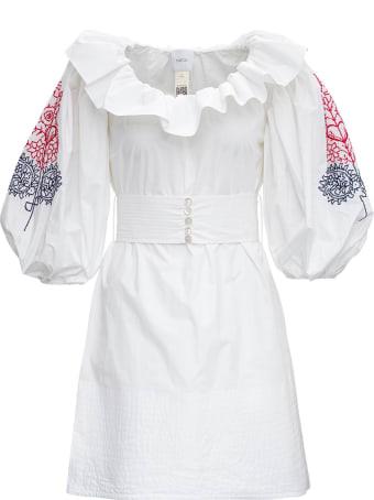 Patou Volume Embroidered Cotton Dress