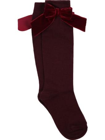Story loris Bordeaux Socks For Girl