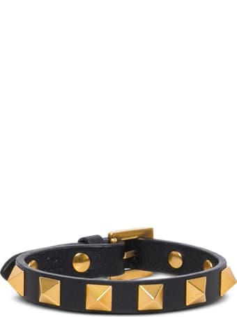 Valentino Garavani Rockstud Leather Bracelet With Studs