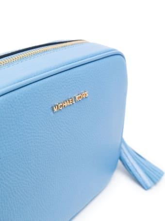 MICHAEL Michael Kors Jet Set Md Camera Bag In Soft Mercer Lthr