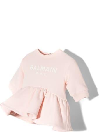 Balmain Pale Pink Cotton Dress