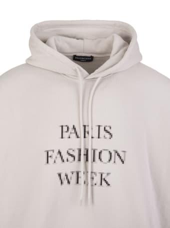 Balenciaga Unisex Grey Fashion Week Shrunk Oversize Hoodie