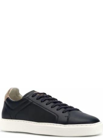 Brunello Cucinelli Sneaker In Pelle Blu Mzubtsj233cv291