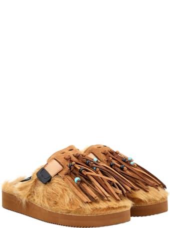 Alanui Zavo Fringed Faux Fur Slippers