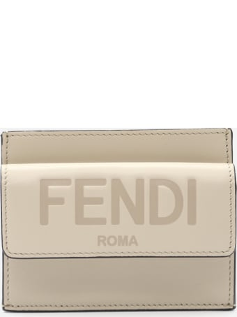 Fendi Leather Wallet With Embossed Logo