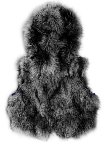 Mr & Mrs Italy Reversible Waistcoat Minissimo Black Purr