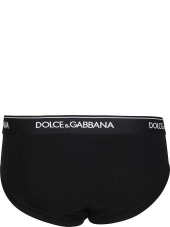Dolce & Gabbana Black Cotton Briefs