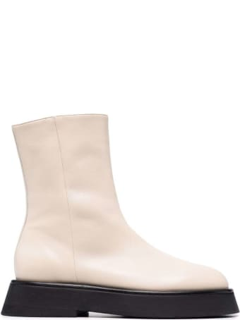 Wandler Rosa Ivory Leather Boots