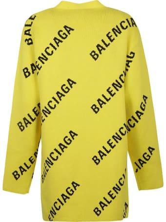 Balenciaga Logo Knit Cardigan
