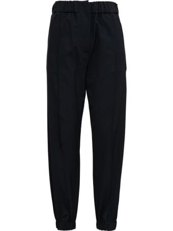 Tela Black Pants In Wool Blend
