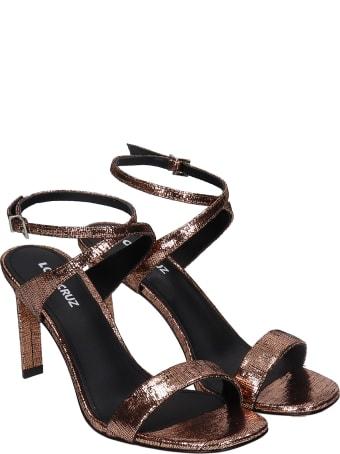 Lola Cruz Sandals In Copper Leather