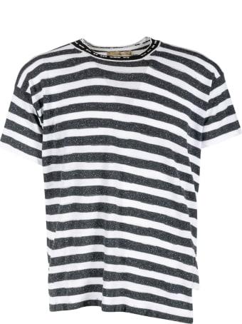 Maison Flaneur Stripe Print T-shirt