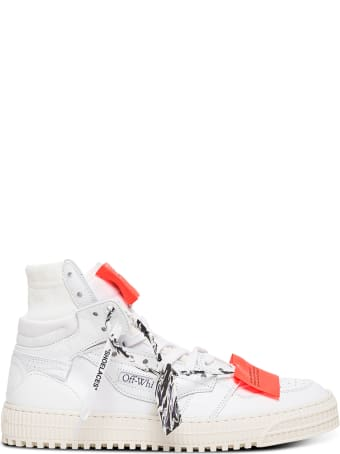 Off-White White Off Court 3.0  Leather And Fabric Sneakers