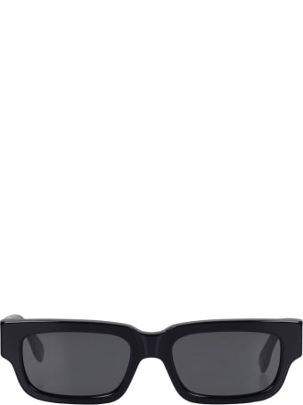 RETROSUPERFUTURE Roma Sunglasses In Black Acrylic