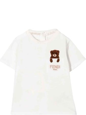 Fendi Teddy Bear T-shirt With Embroidery