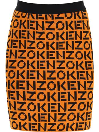 Kenzo All Over Logo Miniskirt