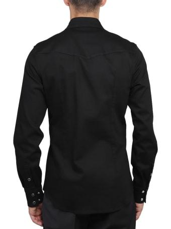 Dolce & Gabbana Black Denim Shirt