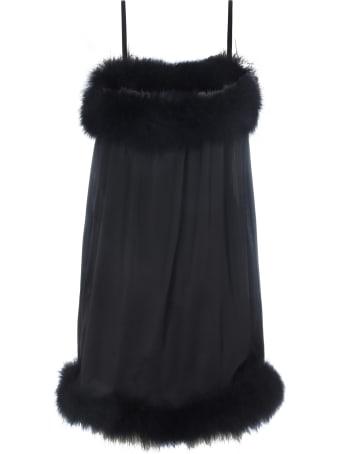 Saint Laurent Mini Satin Dress