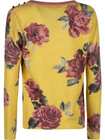 Anna Molinari Floral Print Sweater