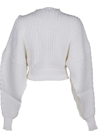 A.W.A.K.E. Mode Open Sleeve Sweater With A Round Shoulder Cut