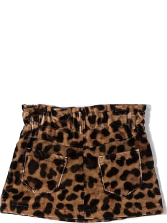 Fay Leopard-print Cotton Skirt