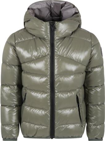 Colmar Green Jacket For Boy With Logo