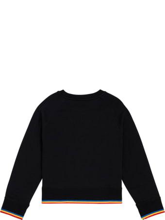 Stella McCartney Kids Black Cotton Sweatshirt With Print