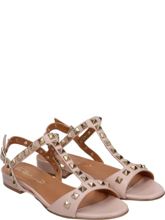 Via Roma 15 Flats In Powder Leather