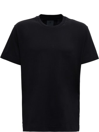 Givenchy Black Cotton T-shirt With Micro Logo