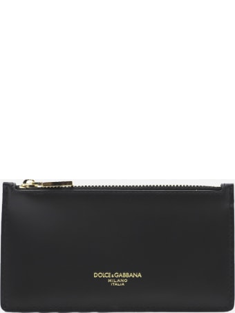Dolce & Gabbana Leather Card Holder With Contrasting Logo Detail