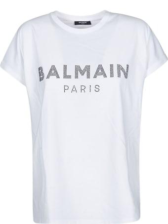 Balmain Beaded Logo T-shirt