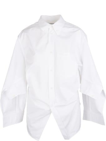 Balenciaga Woman White Swing Twisted Shirt
