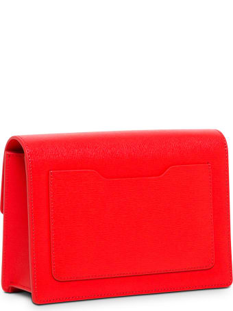 Off-White Jitney Crossbody Bag In Red Saffiano Leather