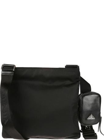 Prada Pouch Applique Top Zip Messenger Bag