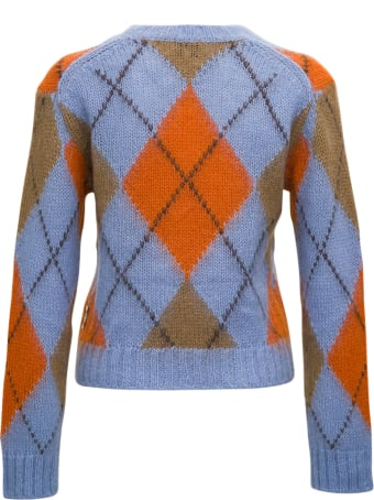 Kenzo Argyle Sweater In Mohair Blend