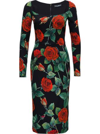 Dolce & Gabbana Roses Silk Dress